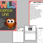 Owls Science Unit!  Yeah!