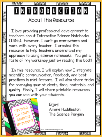 Setting Up Your Science Notebook Resource on TpT