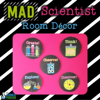 Mad Scientist Room Decor: science lab decorations