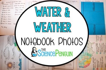 Water and Weather Notebook Photos