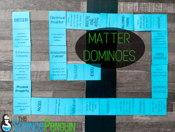 Free Matter Vocabulary Dominoes