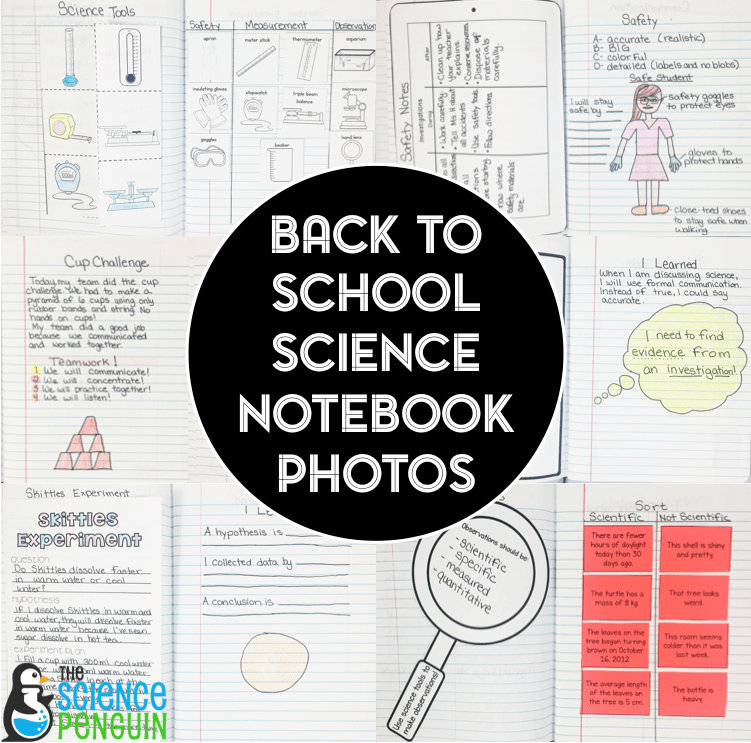 New Year, New Notebook Blog Series: Back to School Science Notebook Plan