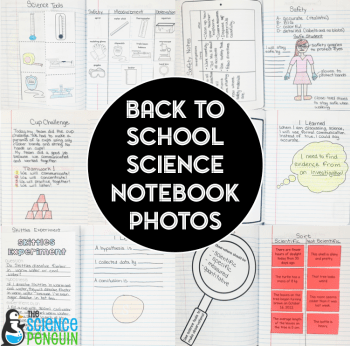 Back to School Science Notebook Photos-- awesome ideas for the first 2 weeks in upper elementary