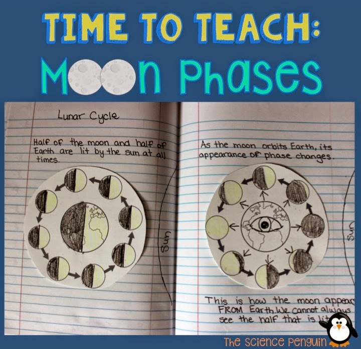 Ideas to teach students about moon phases the science penguin
