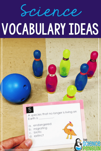 Science Vocabulary Ideas: Bowling