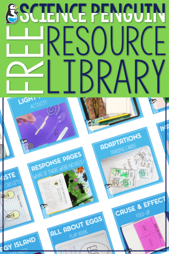 The Science Penguin Free Resource Library: Join to access lots of free goodies for elementary science!