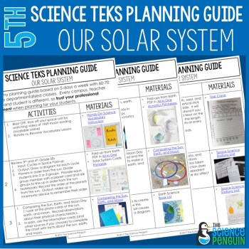 Our Solar System: 5th Grade TEKS Planning Guide