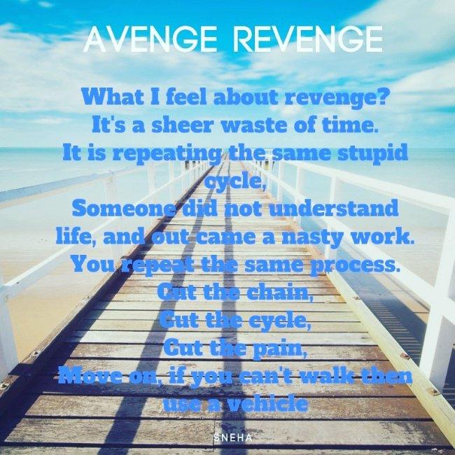 Revenge avenge revenge or leave it?