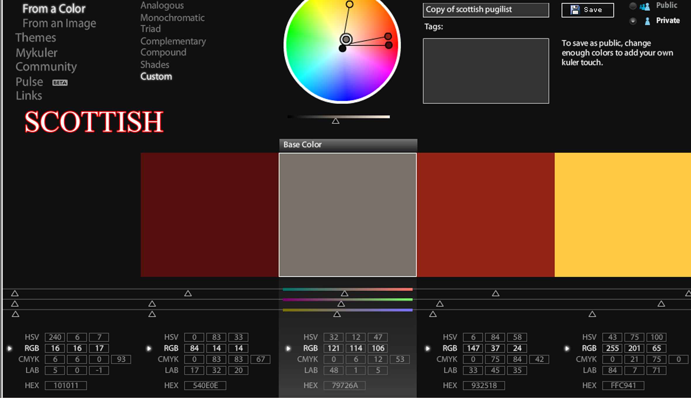 Production Project Worksheet 3 Colour Palettes Using Adobe