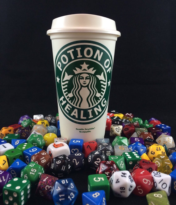 Potion of Healing Starbucks cup