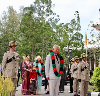 The Prince of Wales receives a royal salute from the Second Battalion Royal Gurkha Rifles. Photo: Courtesy of the British High Commission