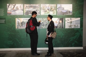 Visitors at the 'Abode of Peace & the Lion City: A Brunei-Singapore Exhibition' at Royal Wharf in the capital. Photo: Rasidah Hj Abu Bakar