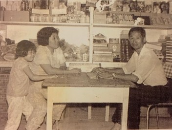 Lau Ah Kok inside the first Hua Ho shop in Manggis during the 1950s. Photo: Courtesy of the Lau Family