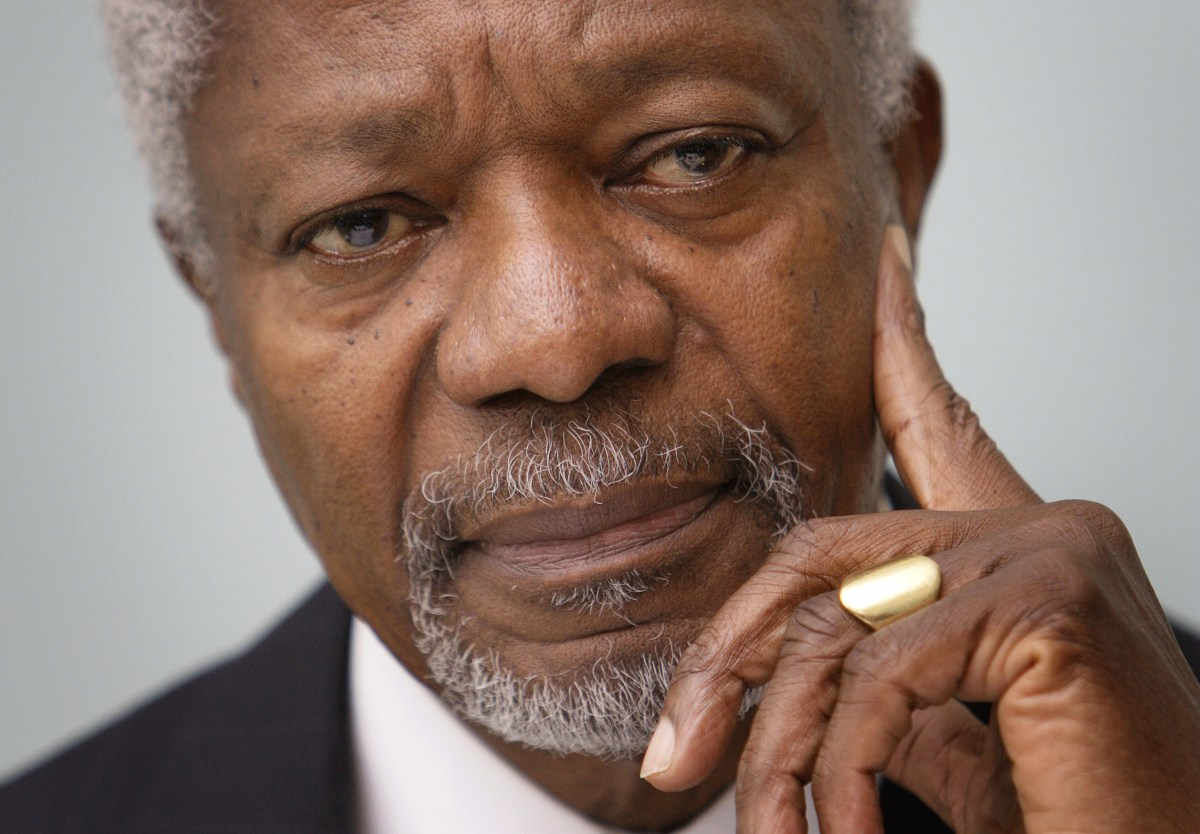 Kofi Annan: the UN's 'rock star' secretary-general