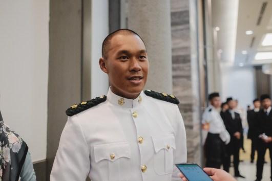 Lt Muhammad Hidayatullah Sunazul Fikar Bin Suip, recipient of the Sword of Honour, in an interview with The Scoop. Photo: Hazimul Harun/The Scoop