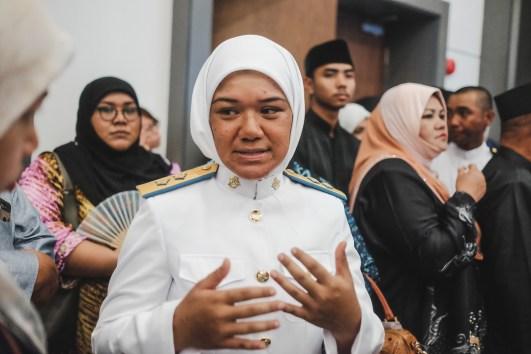 Lt Dk Noorul Aqilah Pg Ishak, one of the graduates from the 17th intake of the Officer Cadet School, RBAF. Photo: Hazimul Harun/The Scoop