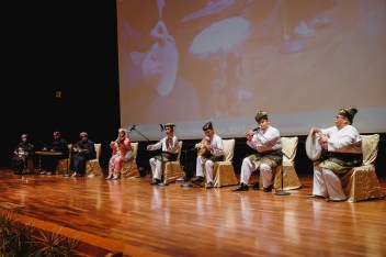 Joint musical performance by Omani Music Band and Brunei's Senandong Budaya during the Omani Cultural Night. Photo: Hazimul Wa'ie/The Scoop