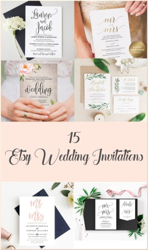 15 Etsy Wedding Invitations Pinterest Pin