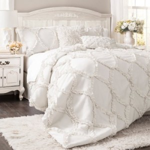 3 piece lush decor ivory country bedding comforter set