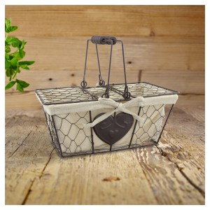 Metal Decorative Baskets with lid