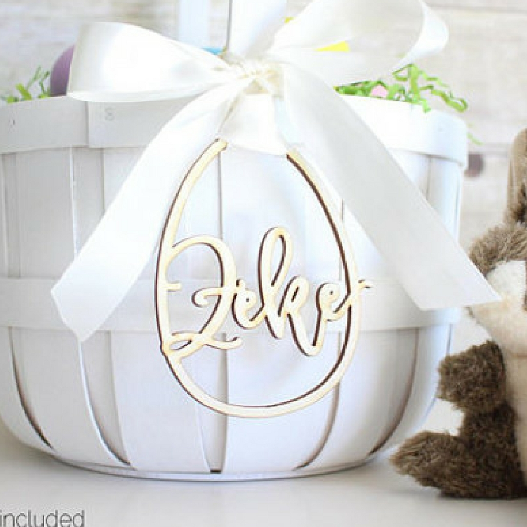 6Personalized Easter Baskets for kids Bunny Rabbit Tag