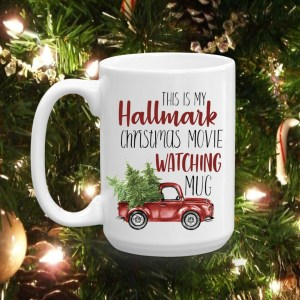 Hallmark Movie Watching Christmas Mug-The Scoop for Mommies