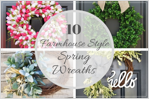 10 Spring Wreaths -Farmhouse Style featured image