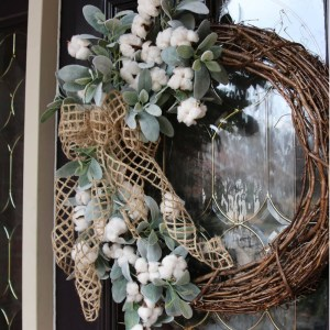 Farmhouse Style Cotton wreath