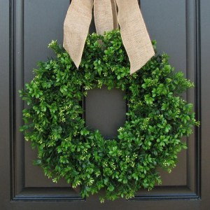 Spring Summer Boxwood Wreath
