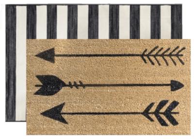 Arrows Layered Door Mat
