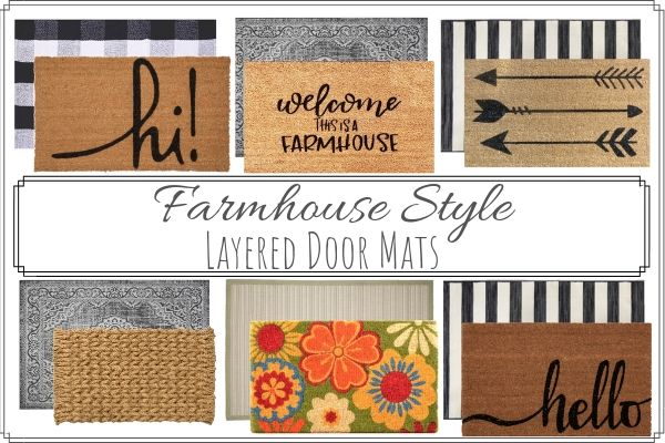Layered Door Mats Farmhouse Style