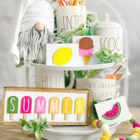 Summer 3D Signs-Tiered Tray Decor
