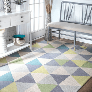 Kids Playroom Ideas and Decor-The Scoop for Mommies-Seleucia Hand Hooked Gray and Blue Rug