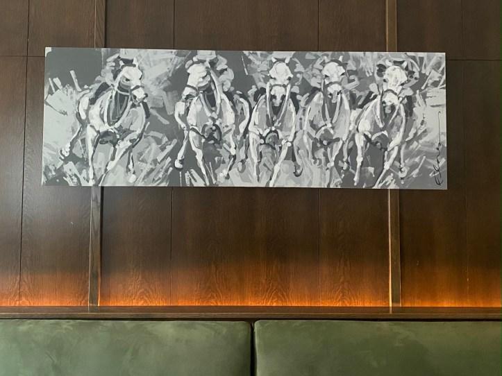 New custom Frankie Flores painting  at Salt & Char Restaurant