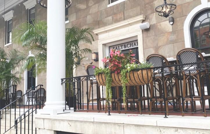 Newly Designed Porch at Salt & Char Restaurant