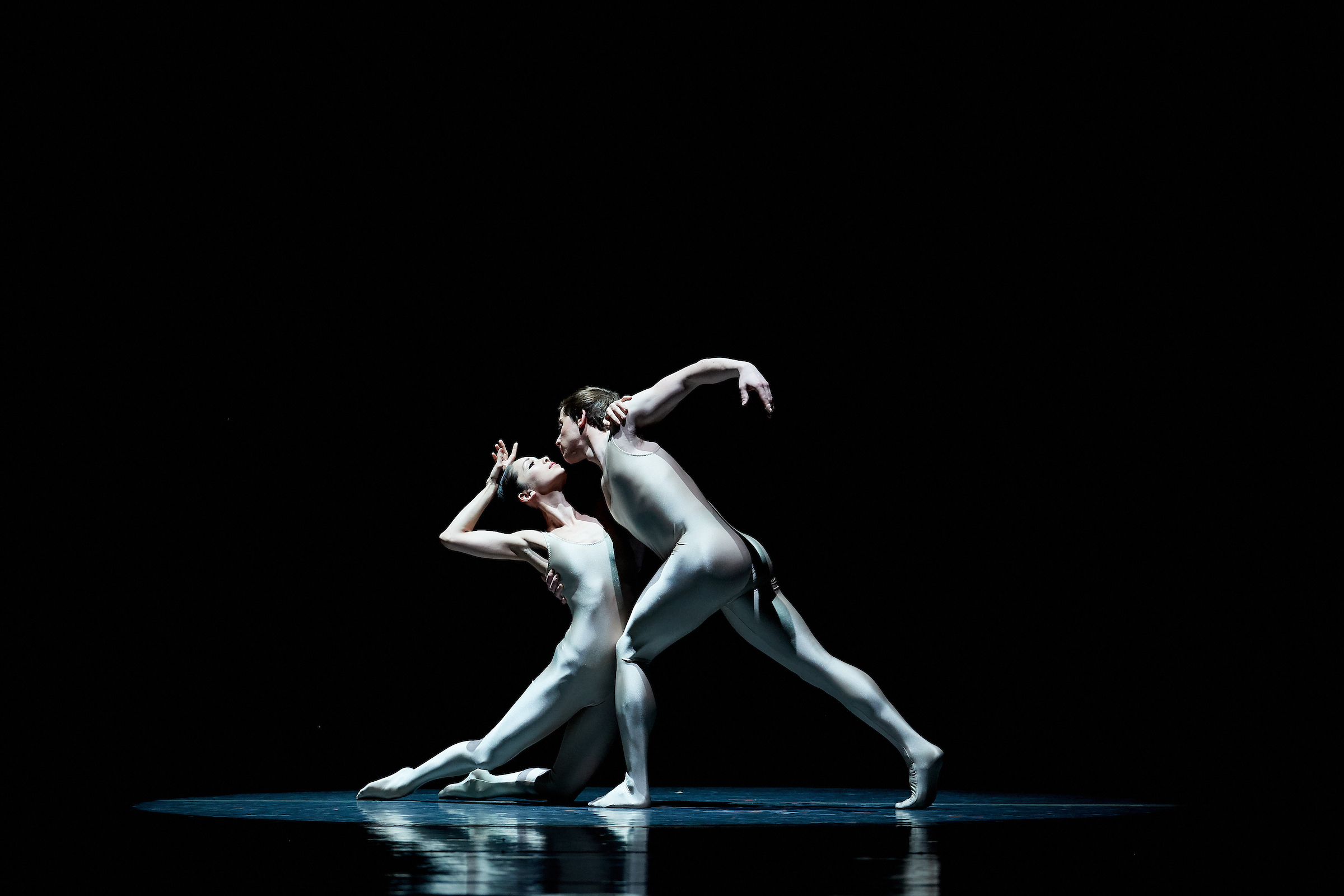 Corina Gill and Isaac Akiba in Leonid Yakobson's Rodin; photo by Rachel Neville Photography; courtesy of Boston Ballet