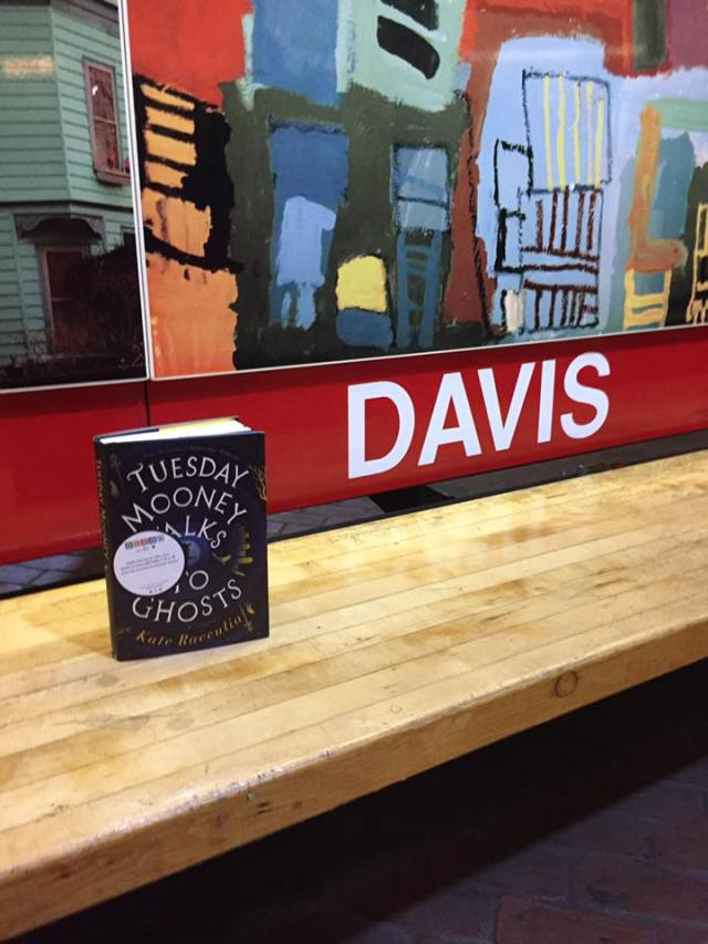 Book fairies leave books in stations across Greater Boston. Photo courtesy of Books on the T's Facebook page.