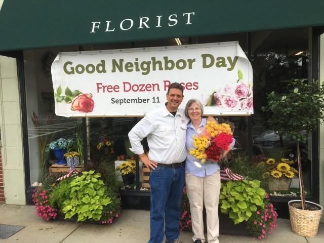 George and Barbara Sawin own Davis and Sawin Florist in West Roxbury. Photo by Jordan Erb.