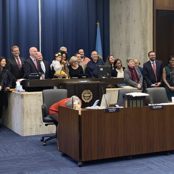 Boston City councilors attended a brief meeting at City Hall this week. Photo by Jordan Erb.