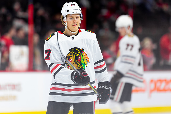 Chicago Blackhawks defenseman Adam Boqvist