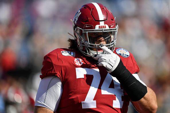 Jedrick Wills. Offensive Tackle Alabama #74