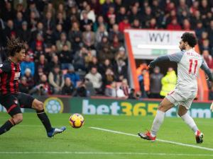 Mohamed Salah Makes 100th EPL Appearance and scores his first away goal this season against Bournemouth