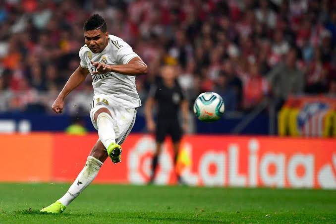 Casemiro netted twice as Real Madrid beats Sevilla 2-1 at Santiago