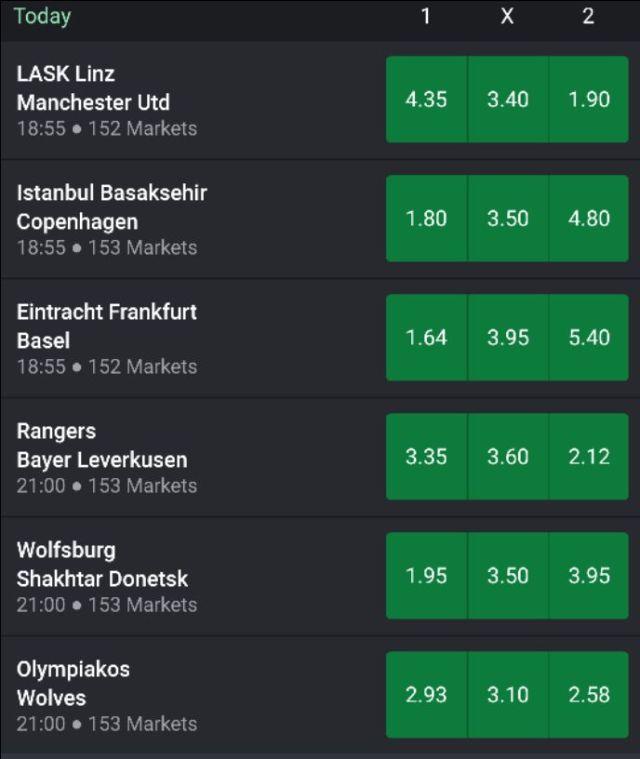 Europa League bet9ja Prediction For Thursday, 12th, March 2020