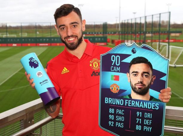 Bruno Fernandes won EPL player of the month award for February