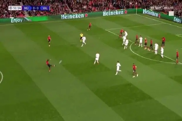 Eric Bailly's shot 40-yard half-volley high and wide during Valencia clash (Video)