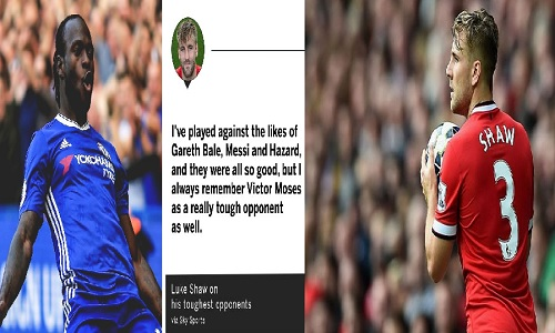 I always remember Victor Moses as a really tough opponent - Luke Shaw