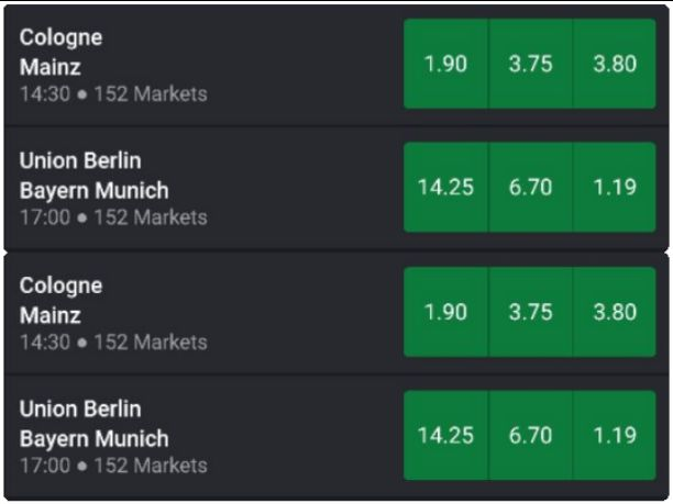 Bet9ja Prediction For Bayern Munich, Correct score, GG/NG, Half Time/Full Time, and Handicap
