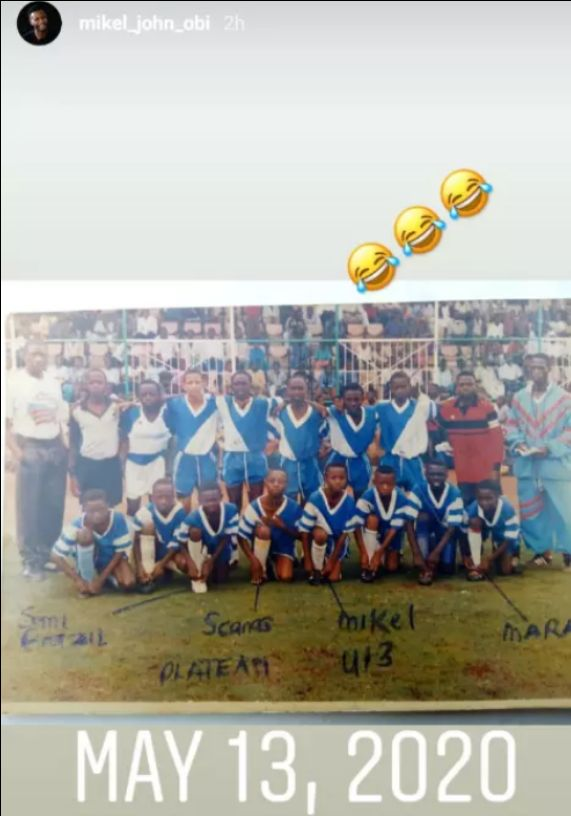 Mikel Obi Releases His Old Picture of Him and His U-13 Teammates