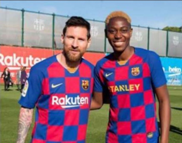 The secret relationship between Asisat Oshoala and Lionel Messi in Barcelona